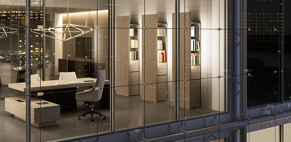 Dise o italiano de interiores con marcas exclusivas y for Escritorios diseno italiano