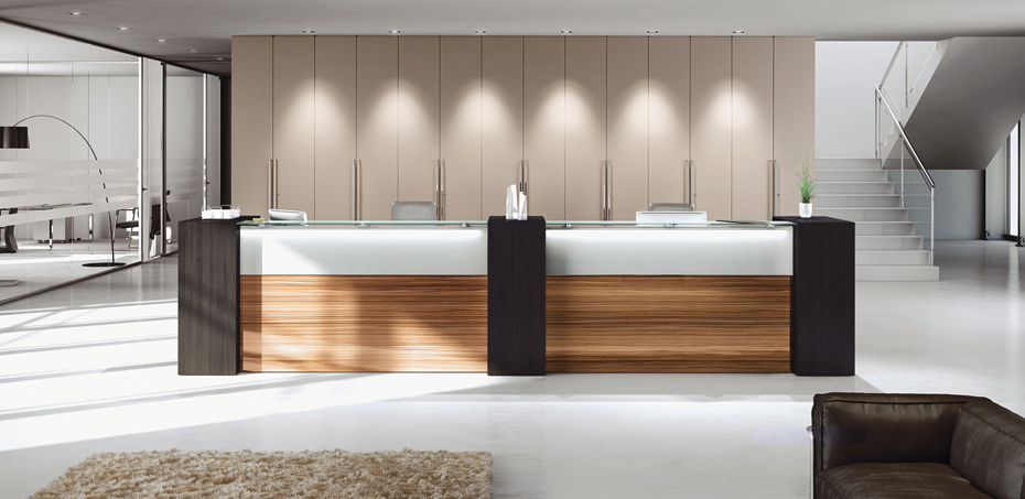 Muebles de recepcion nice por las mobili dise adores si for Mobili design