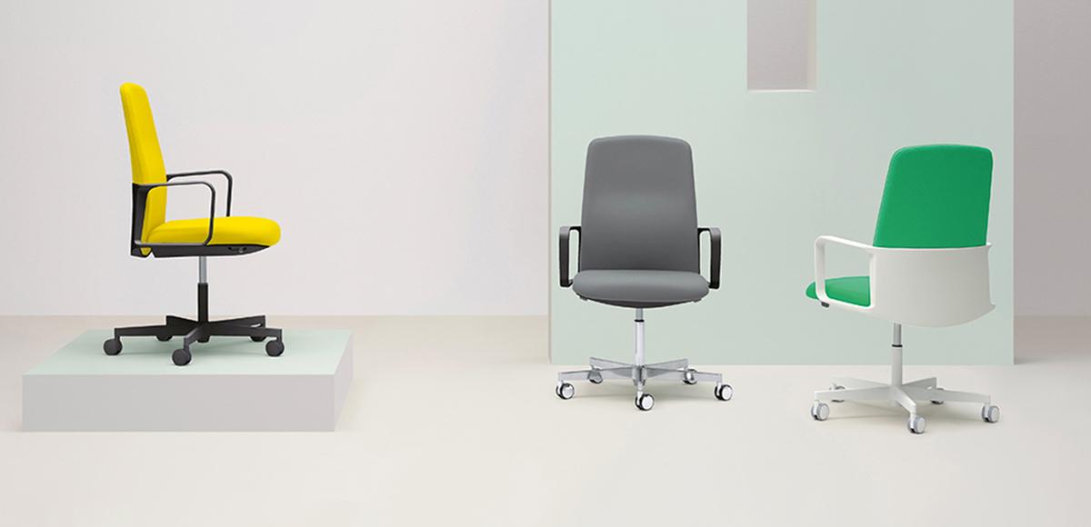 Sillas para oficina italianas Temps por Pedrali, designer Jorge Pensi